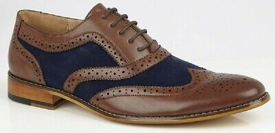 GOOR M134BC Two Tone Brogue Oxford Formal Shoes • 28£