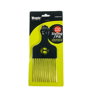 $5.99 • Buy Magic Pro Grade High Quality Hair Pick Afro Pick Styling Pik Metal Fist Pik