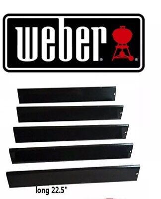 $ CDN67.24 • Buy Weber Set Of 5 Flavorizer Bars 7536 Porcelain Steel BBQ Gas Grill Parts NEW