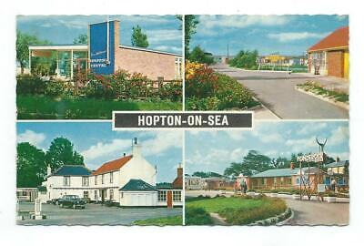Norfolk Hopton-on-Sea White Hart Ponderosa Constance Multiview Postcard C.1960's • 4.95£