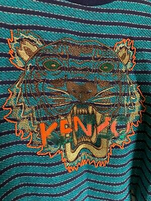 AU35 • Buy KENZO Blue Beaded Tiger Jumper Size M (8-10)