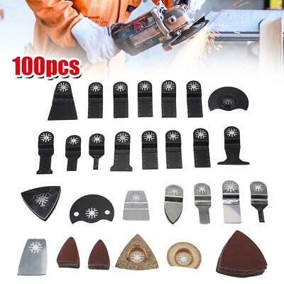 100x Oscillating Multi Tool Saw Blade Parts Accessories For Wood Plastic Metal • 24.49£