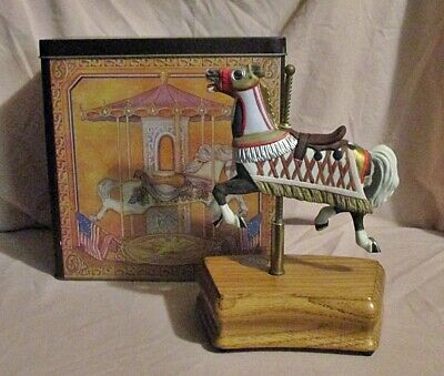 $12 • Buy Tobin Fraley Carousel Horse In Tin Limited Ed. Music Box Horse Moves Up & Down