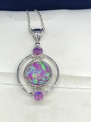$19.99 • Buy SAJEN Sterling Silver Rainbow Lavender Quartz Pendant Necklace (MSRP $250.00)