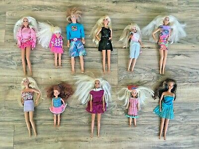 $ CDN54.36 • Buy Lot Of 11 Vintage Barbie Dolls Skipper Stacy Ken Surfer Clothes 1980s 1990s
