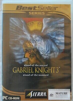 AU15 • Buy Gabriel Knight 3 Blood Of The Sacred Blood Of The Damned For PC CD Rom