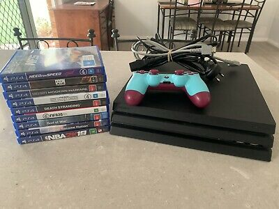 AU510 • Buy PS4 Sony PlayStation 4 Pro 1TB Console + Controller + Cables + 9 Games