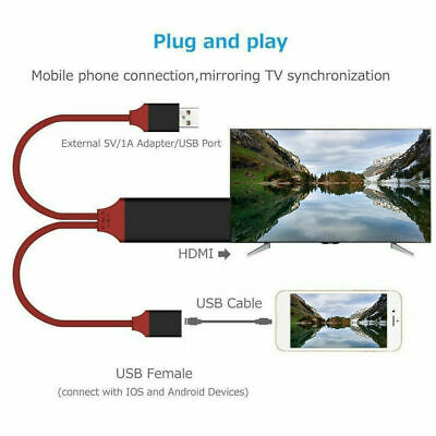 $ CDN18.37 • Buy High Speed HDMI Cable Sync Screen Line AV Adapter Phone To TV All Smartphones