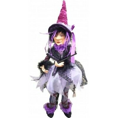 Witches Of Pendle *sabrina  Purple Flying Witch 30 Cm  Info Book Pagan/ Occult • 22.95£