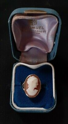 EXCELLENT BEAUTIFUL 9ct GOLD LARGE CAMEO RING SIZE N 4.1g • 170£
