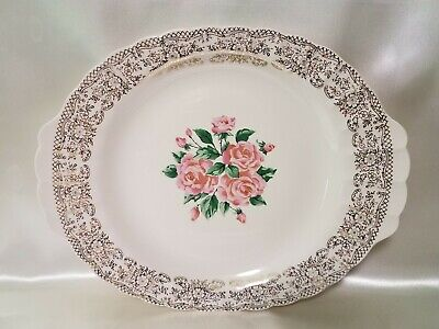 $15 • Buy Sebring Pottery Co China Bouquet Serving Plate Warranted 22 K Gold