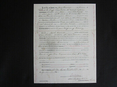 $75 • Buy 1865 CIVIL WAR Soldier Official UNION Honorable Discharge Signed Document