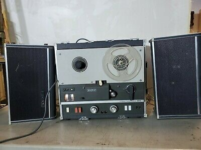 $45 • Buy Vintage Sony TC-500 Tapecorder Analog 2-Track 1/4  Tape Recorder With Speakers