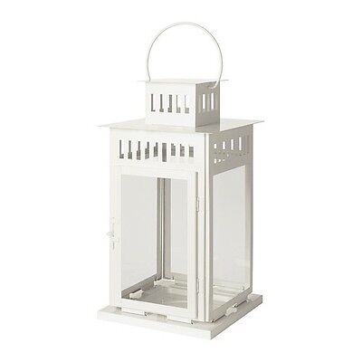 $39.99 • Buy BORRBY Lantern For Block Candle, White Indoor/outdoor