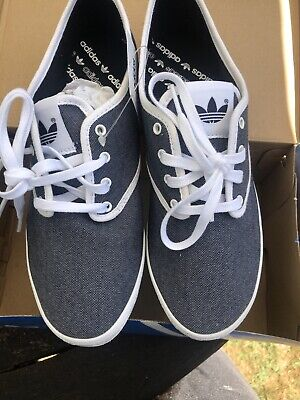 Adidas Originals - Grey And White Plimpsoles / Trainers - Size 5.5 - Adria PS W • 25£
