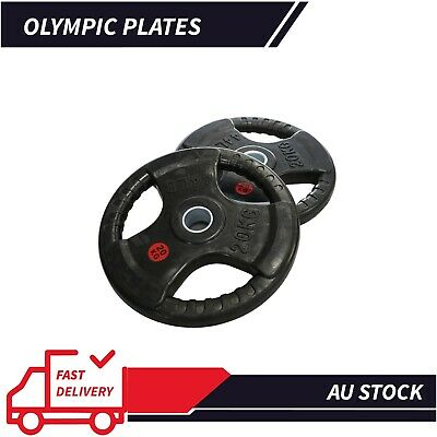 AU27 • Buy AU Olympic 5CM Rubber Coated Cast Iron Weight Plate 2*2.5KG Set Commercial Grade
