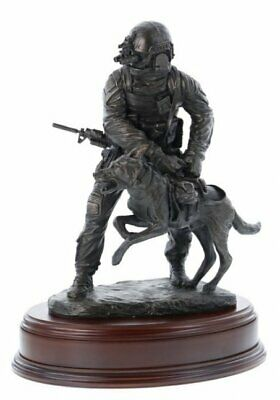 US Special Forces Soldier With Attack Dog, Afghanistan - Ballantynes Statue A4i • 184.81£