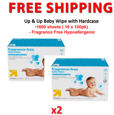 AU49.95 • Buy Up & Up Unscented Box 1600 Baby Wipes With Hard Cap Case MADE IN USA