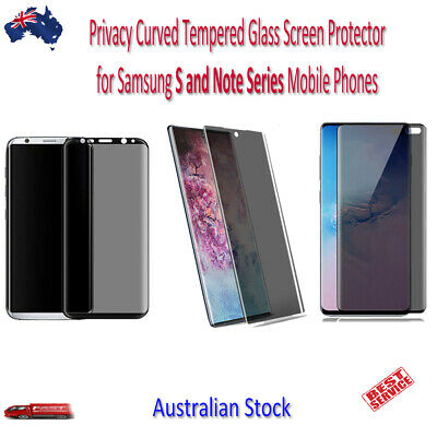AU9.99 • Buy Privacy Anti-Spy Tempered Glass Screen Protector For Samsung Mobile Phones