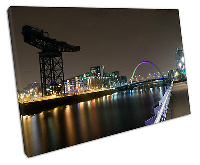 £18.82 • Buy Print On Canvas City Of Glasgow Squinty Bridge River Clyde Scotland 30x20 Inch