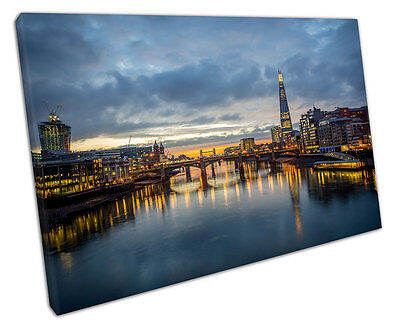£17.75 • Buy Print On Canvas City Of London The River Thames Capital City Canvas 30x20 Inch