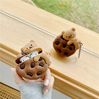 AU7.24 • Buy 3D Cute Bear Cookies Earphone Airpod Pro Charging Case Cover For Airpods 1 2 3