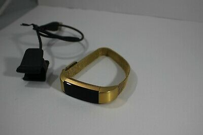 $ CDN1257.59 • Buy Fitbit Alta + Heart Rate HR Gold Wristband Special Edition Stainless Steel Metal