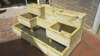 Garden Planter Decking 3 Tier Staggered, Herb Garden • 61.99£