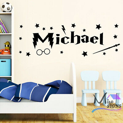 Harry Potter Personalised Wall Sticker Decal Any Name For Children • 14.99£