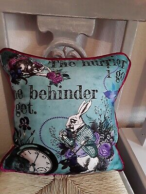 Alice In Wonderland Velvet Feel Cushion  • 24.99£