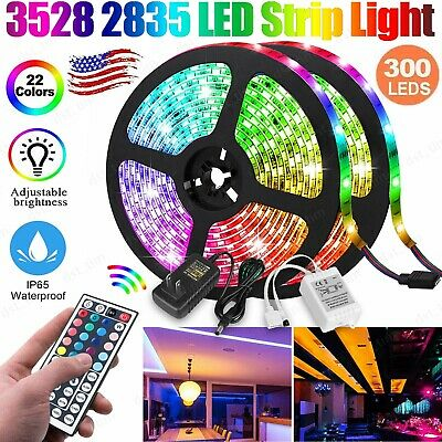 $18.99 • Buy 16.4FT Flexible 300 LED Strip Light RGB 3528 2835 SMD Fairy Lights Room Party TV