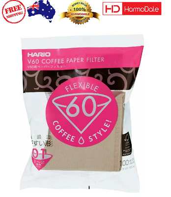 AU22.75 • Buy Hario V60 Paper Filter 100 Sheet - Natural Unbleached 01