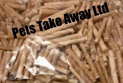 2 X 1KG BAGS - TOP QUALITY RAWHIDE OFF CUTS TWISTS DOG CHEWS - FAST DELIVERY • 17.99£