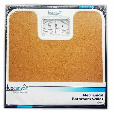 £14.50 • Buy Durable Cork Mechanical Bathroom Weighing Scales Blue Canyon Home Stone Kg