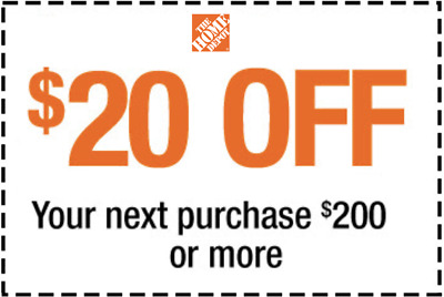 $3.95 • Buy Home Depot Coupon $20 Off $200 Purchase ONLINE USE ONLY Expires 8/18/20 - Fast