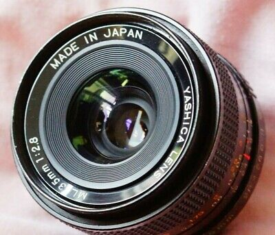 Rare Yashica 35mm F2.8 ML Wide Angle Prime  Lens Contax/yashica Fit • 100£