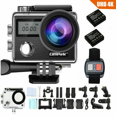 AU89.93 • Buy Campark X20 4K 20MP Action Sport Camera UHD Touch Screen WiFi Dual LCD As Gopro