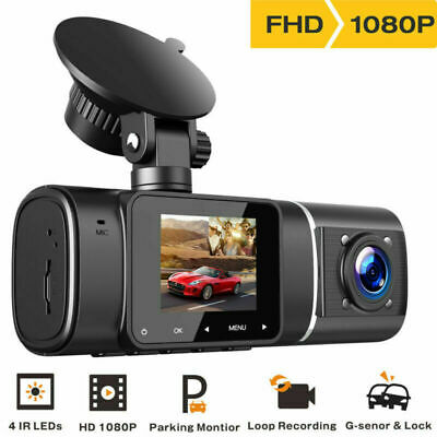 AU69.54 • Buy TOGUARD Uber Car DVR FHD Dual Len Dash Cam IR Night Vision Video Recorder Camera