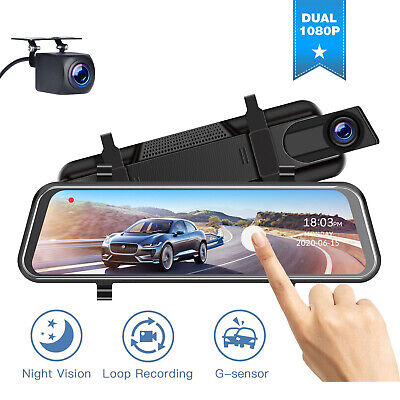 AU90.36 • Buy TOGUARD 10  Dual 1080P Dash Cam Front+Rear Rear View Mirror Car Camera Recorder