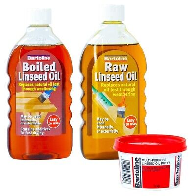 Bartoline Linseed Oil Raw Boiled 500ml Multi Purpose Putty 500g DIY Woodwork • 4.99£