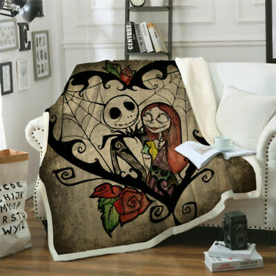 New Luxury The Nightmare Before Christmas Blanket Skull Warm Soft Sofa Bed Throw • 20.99£