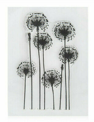 Clear Acrylic DANDELIONS Stamp Flowers Nature 9.5 Cm Tall X 5.5 Cm Wide • 2.80£