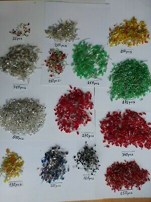 $ CDN31 • Buy Scrap Gold? Silver?   4365 Pcs 5mm LEDs Diode Red Green Yellow Blue White