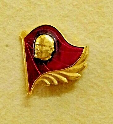 Vintage Communist Russian Flag Soviet Union USSR Lenin Badge Lapel Tie Pin CCCP • 6.99£