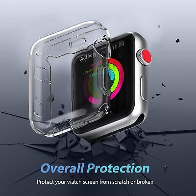 AU6.95 • Buy For Apple Watch Screen Protector Case IWatch Protector For IWatch 6 5 4 3 2