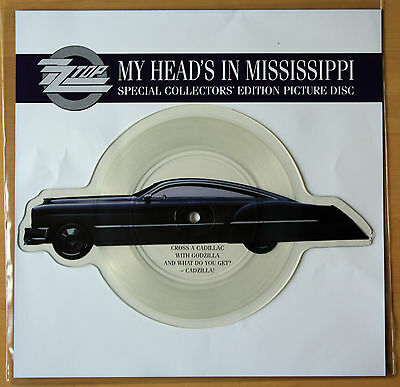 EX/EX ZZ TOP My Head's In Mississippi Shaped VINYL Picture Disc Heads • 17.49£