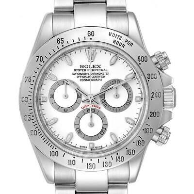 $ CDN24454.79 • Buy Rolex Daytona White Dial Chronograph Stainless Steel Mens Watch 116520