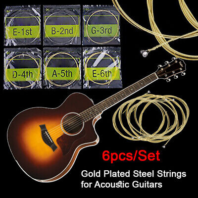$ CDN7.75 • Buy Guitar Strings Gold Plating For Classic Acoustic Accessories 6PCs/Set