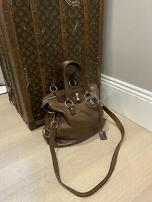 AU500 • Buy Authentic YSL Muse Chocolate Brown Leather Cross Body Bag