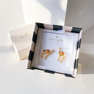 $ CDN36.96 • Buy Kate Spade Spice Things Up Camel Earrings New With Gift Box